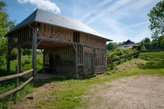 barbecue gîte cabane du pêcheur moyaux calvados normandie